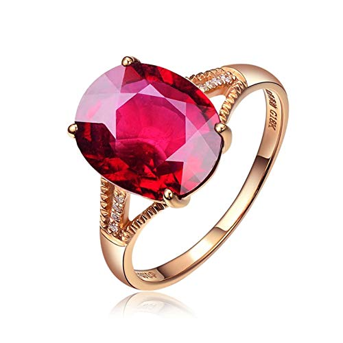 Ubestlove Unusual Engagement Rings For Her Christmas Gifts For Women Clearance 4.34Ct Natural Pigeon Blood Tourmaline Ring Ladies Gifts H 1/2
