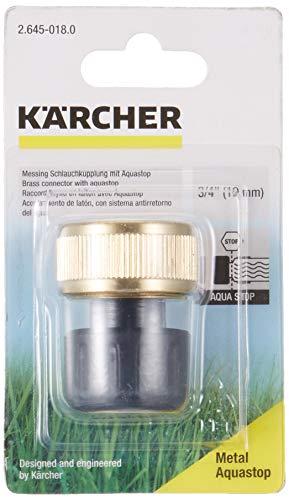 Kärcher 2.645-018.0 Schlauchkupplung (Messing, 3/4 Zoll, Aquastop)