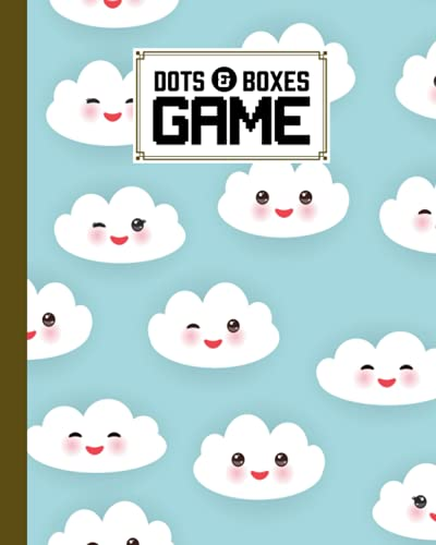 """Dots And Boxes Game: Clouds Set Cover Dots And Boxes Game, A Classic Strategy Game - Large and Small Playing Squares, 120 Pages, size 8\"""" x 10\"""" by Jose Wolter"""