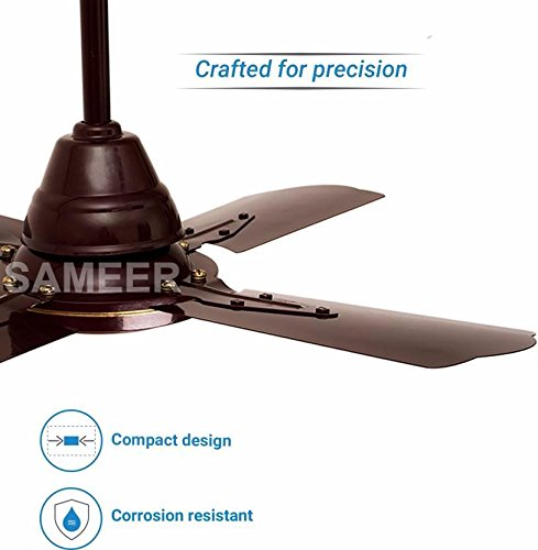 Sameer 24 Gati High Speed Ceiling Fan (Brown)