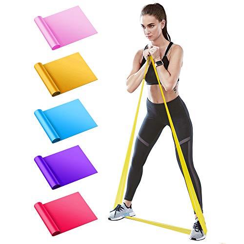 BIFY Fitnessbänder 5er-Set 1.5M Verschiedene Widerstände,geeignet für Fitness, Aerobic, Muskelübungen,Yoga, widerstandsbänder,krafttraining Fitnessband