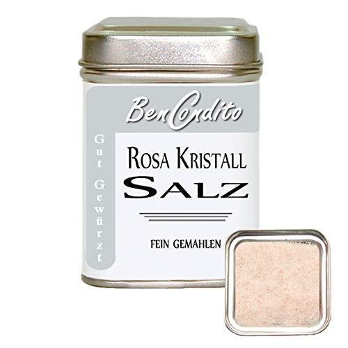 BenCondito - fein gemahlenes Rosa Kristallsalz aus Punjab  ( bekannt als Himalaya Salz ) 180 Gramm