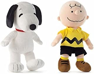 "Peanuts Snoopy and Chuck Plush Set Featuring 13"" Snoopy and Charlie Brown Dolls"
