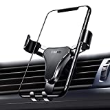 【2020最新改良版】VANMASS 車 スマホホルダー スマホ 車載ホルダー 重力式自動開閉 超便利 スマホほるだー カー スマホホルダー スマホスタンド 車載 ホルダー スマートフォンホルダー 車載スタンド 車 スマホスタンド エアコン吹き出し口用 クリップ式 落下防止 安定性抜群 携帯ホルダー iPhone11 Pro/ iPhone11/ iPhone XS/iPhone XR/iPhone 8P/iPhone 8/iPhone 7/iPhone 6/Galaxy S8/S9/S10 LG G6 V20など 4.0-6.5インチスマホに対応