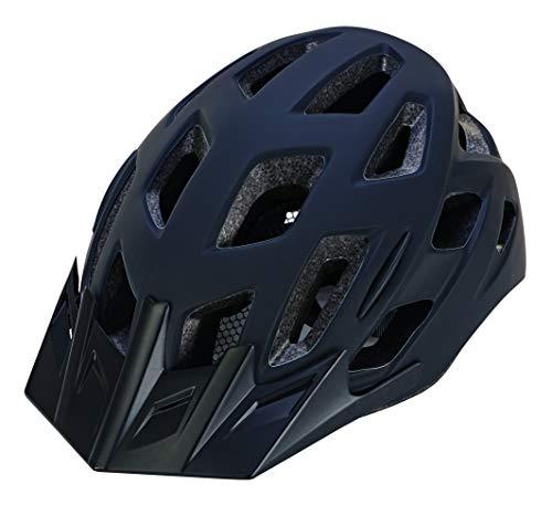 Prophete Unisex– Erwachsene Fahrradhelm mit integrierter LED, Größe: 55-58 cm, schwarz, TÜV/GS Zertifiziert