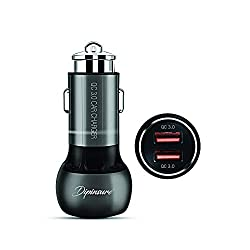 Dipinsure Force Car Charger Qualcomm Certified with Dual USB Quick Charge 3.0 Metal Shockproof Body with Safety Hammer.,Dipinsure