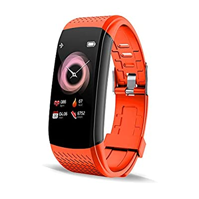 Walkercam Fitness Activity Tracker with Heart Rate Monitor, Waterproof Pedometer Smartwatch with Sleep Monitor, Orange