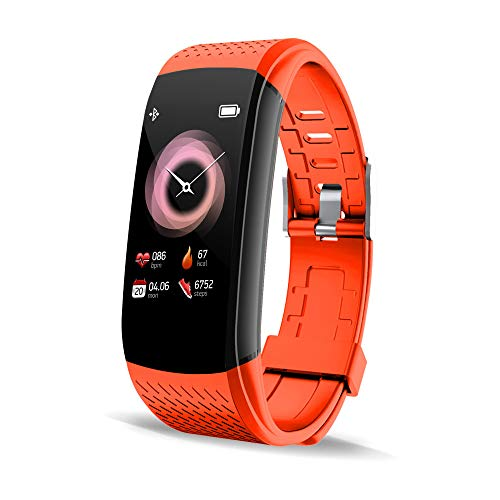 Walkercam, Fitness Tracker with Incoming Call and Message Notification Function (C8 Orange)