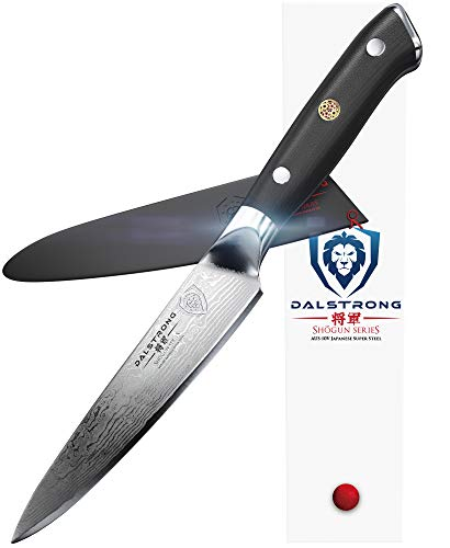 DALSTRONG Utility Knife - Shogun Series Petty - Damascus - Japanese AUS-10V Super Steel - Vacuum...