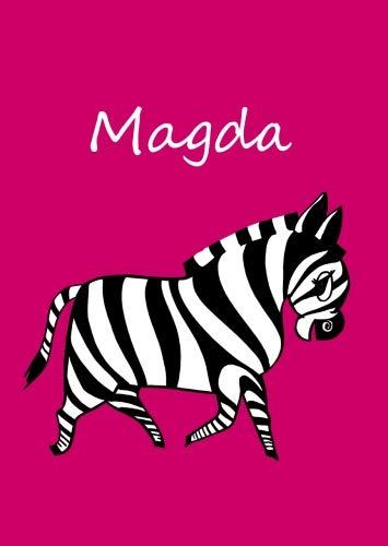 Magda: personalisiertes Malbuch / Notizbuch / Tagebuch - Zebra - A4 - blanko