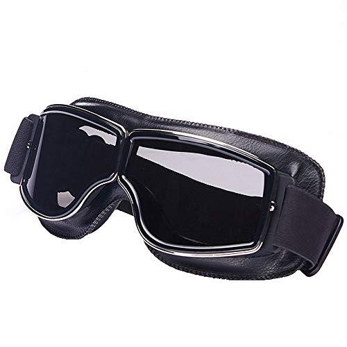 Occhiali da moto,Occhiali da moto antiappannamento con montatura in pelle,Accessori per moto da montagna Occhiali da moto Elastici