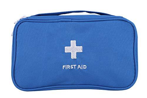 Oxford Gewebe Medizintasche, Reiseapotheke Tasche, Betreuertasche für Familien Erste Hilfe Tasche Notfalltasche Rot/Weiß/Blau