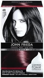 John Frieda Precision Foam Colour 4R Dark Red Brown (3 Pack)