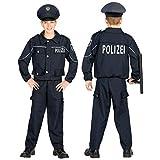 WIDMANN 02006 Kinderkostüm Polizist, Jungen, Schwarz, 128 cm
