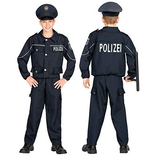 WIDMANN 02008 Kinderkostüm Polizist, Jungen, Schwarz, 158 cm