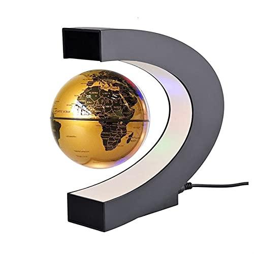 JOMYO Gadgets Tecnologicos, Levitacion Magnetica, Slobus Magnético, Decoración De Sala De Estar Creativa, Regalos Creativos para Estudiantes. (Color : Oro)
