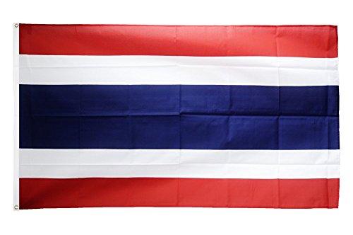 Drapeau de Thaïlande + Broderie, Drapeau fritze®, Hissflagge 90 x 150 cm