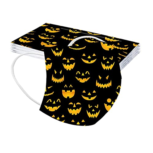 cinnamou 10 Stück Halloween Mundschutz Erwachsene - Einweg 3-lagig...