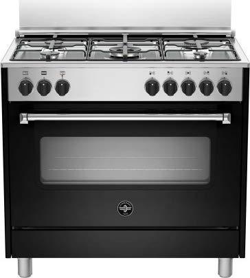 La Germania AMN965ENEV, Cucina libera installazione con forno elettrico multifunzione, 90x60 cm, colore nero