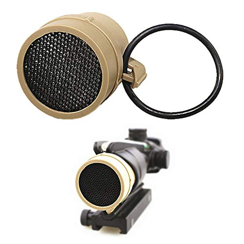FIRECLUB Scope Round Meshy Cover Kill Flash Anti-Reflection Device for ACOG 4 X 32 Scope Sand
