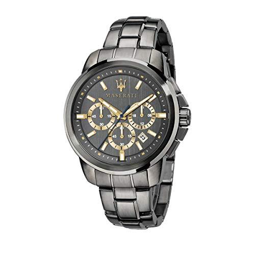Orologio da uomo, Collezione Successo, con movimento al quarzo e funzione cronografo, in acciaio e PVD canna di fucile - R8873621007