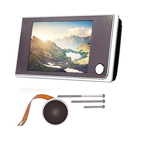 Eipek - Mirilla digital para puerta blindada, con pantalla LCD de 3,5 pulgadas, un sistema de vigilancia doméstica gran angular de 120 grados