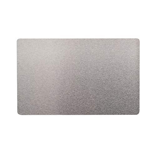 Visitenkarten, Metall, blanko, 100 Stück, Namensschild, Visitenkarten, mit Gravur, Thermotransfer-Zubehör für Kunden Free Size silber