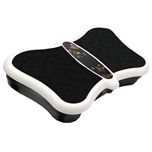 Topashe Vibrationsplatte Magnetfeldtherapie Massage,Lazy Fat Slimming Machine, Gewichtsverlust elektrische Body Shaping-Maschine-schwarz,Fitness Vibrationsplatte
