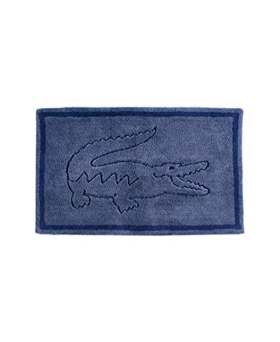 "Lacoste Legend 100% Cotton Bathroom Rug, 20"" W x 32"" L, Moonlight Blue"