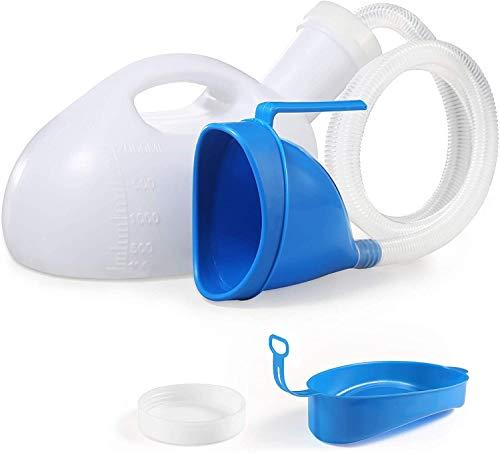 Bestool Botella mingitoria, universal, portátil, de 2000ml con adaptador femenino, para hospitales, camping, coches, viaje, blanco