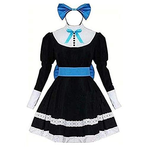 LuBHnna Panty & Stocking with Garterbelt Stocking Anarchy Cosplay Lolita Maid Dress Halloween Party Uniform