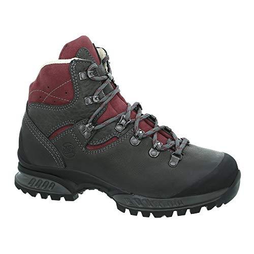 Hanwag Lhasa II Lady - Trekkingstiefel, Schuhgröße:40.5 (UK 7), Farbe:Asphalt/Dark Garnet