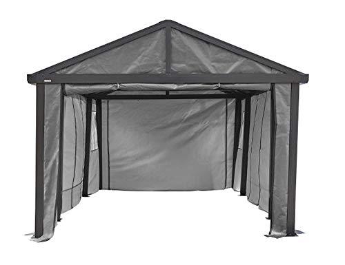 Sojag 12' x 20' Samara Carport Canopy Fabric Wall Enclosure Kit, Grey (135-9165845)