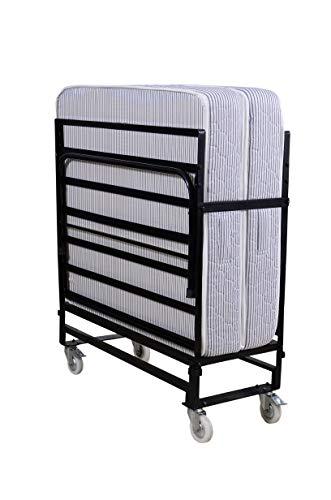 Springtek Rollaway Folding Bed with Free 6-Inch Foam Mattress, Lockable Wheels