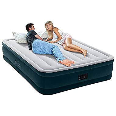 Intex Dura-Beam Series Elevated Comfort Airbed with Built-in Electric Pump, Bed Height 16 , Queen - Amazon Exclusive