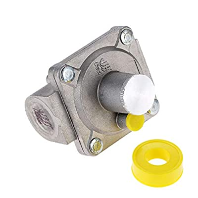 """Aupoko 1/2'' Gas Regulator, 1/2""""-14NPT Natural Gas Grill Regulator, Inlet Pressure:1/2'' PSIG, Outlet Pressure LPG 5"""" W.C, for NG Gas NPT Natural Gas Low Pressure Regulator with Gas Line Thread Tape by Aupoko"""