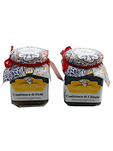 Confiture artisanale de cerises et figues 100% Made in Sicil