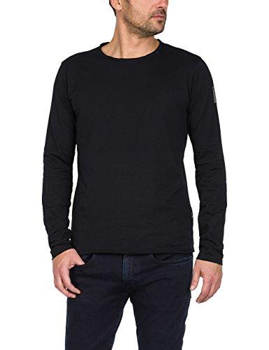 Replay Herren M3592 .000.2660 Langarmshirt, Schwarz (Black 98), Large