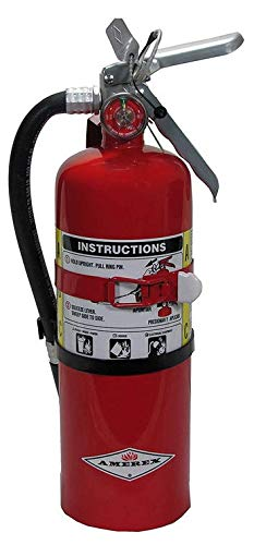 Amerex B500T ABC Dry Chemical Fire Extinguisher with Aluminum Valve and Vehicle Bracket, 5 lb.