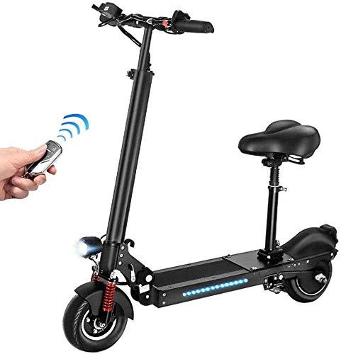BRFDC Electric Scooter para Adultos Scooter eléctrico - 36V / 350W Plegable E-Scooter de 35 km/h con Carga USB City Scooter eléctrico (Color : 55km)