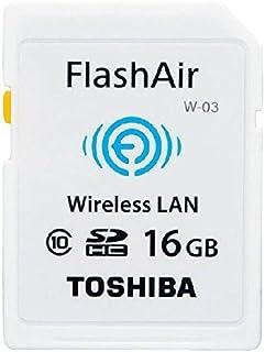 TOSHIBA 東芝 無線LAN搭載SDHCカード FlashAir W-03 16GB Class10 並行輸入品 THN-NW03W0160C6 [並行輸入品]