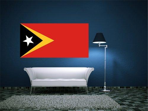 Kiwistar Wandtattoo Sticker Fahne Flagge Aufkleber Osttimor 120 x 60cm