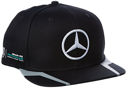 MERCEDES AMG PETRONAS Herren Mercedes AMG Hamilton Flat Cap 2016 Black Kappe, schwarz, one Size