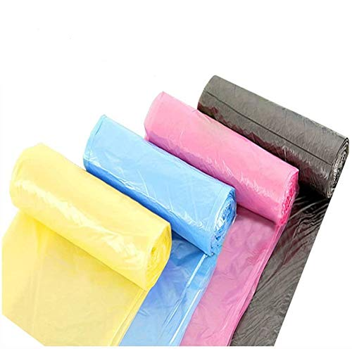 Sacs Poubelle, 4 Gallon Medium de cuisine Sacs Poubelle, 15 litres durable Multipurpose Utilisation quotidienne Sacs Poubelle pour salle de bain bureau Garbage bacs 120 Compte (Liberté Couleur)