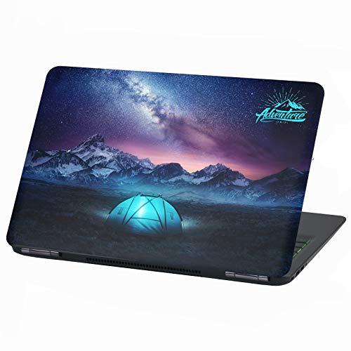 Laptop Folie Cover Adventure Klebefolie Notebook Aufkleber Schutzhülle selbstklebend Vinyl Skin Sticker (15 Zoll, LP15 Camping)