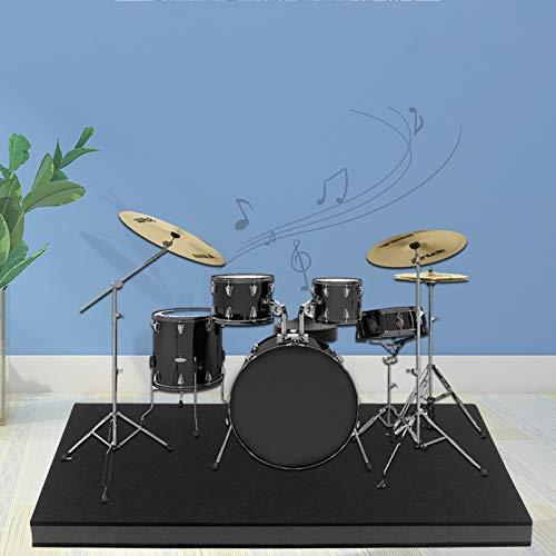 Schlagzeugteppich ,rutschfesteTrommelTeppiche Quadratische Schallschutzdecke Drum Teppich SchlagzeugTeppich Schallschutz Teppich Schallschutzmatte Für Bass Drum Snare Und elektronisches Schlagzeug-Set
