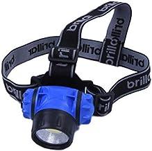 Brillar BR0029 BR0029 3 Mode Headlamp with COB LED Technology 90 Degrees Adjustable Headband Wide Beam Light Camping Running