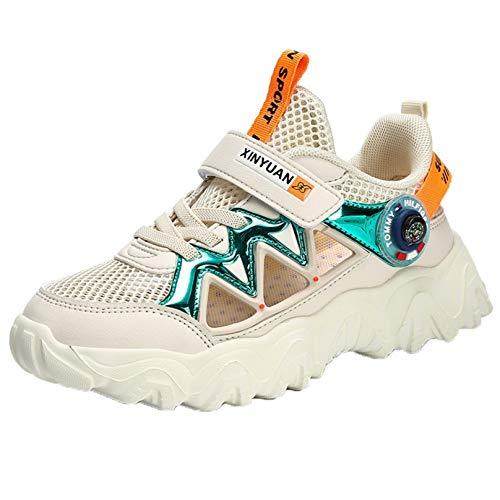 Zapatillas de Deporte para niños Malla para niños Transpirable Suela Suave Antideslizante Calzado Deportivo Informal al Aire Libre cómodas Zapatillas Ligeras para Correr