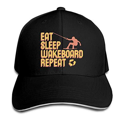 MASHRO Dames Eet Slaap Wakeboard Herhaal Golf Hoed Honkbalpet