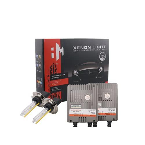 Wattstar H7 HID Bombillas para faros delanteros, 5500 LM, blanco brillante, HID H7, kit de conversión de faros delanteros de xenón con Super Canbus, CC 12 V, 6000 KKits de conversión HID